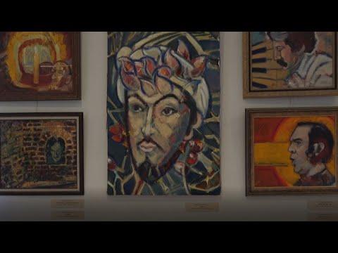 Российская художница представила в Москве портреты выдающихся азербайджанцев. Репортаж Москва-Баку