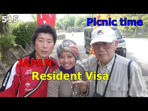 Got the visa , and Picnic @ Hiroshima Jo area