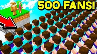 GIVING 500 FANS OP ON MY MINECRAFT SERVER!