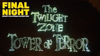 Twilight Zone Tower of Terror FINAL NIGHT crowds, lines, and lobby at Disney California Adventure