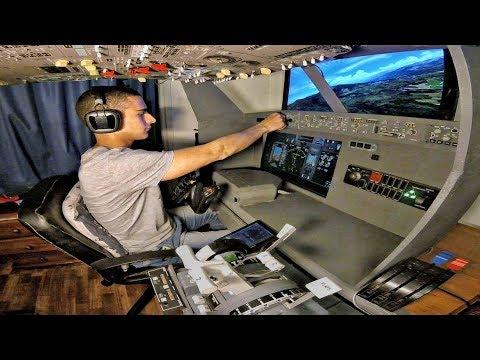 PMDG 737-800 Home Cockpit | Nice to Ajaccio (Circling Visual Approach) | Full Flight & IVAO ATC