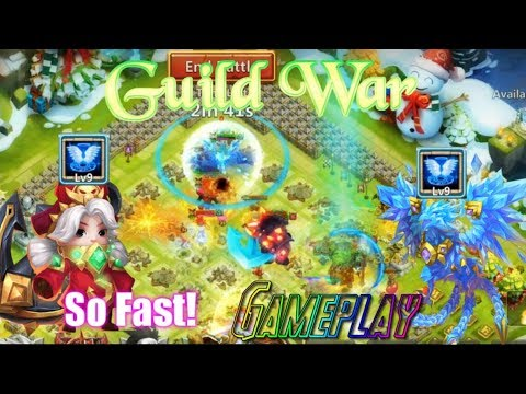 Revive 9 Commodora & Lazulix INSANE FAST! Guild War Gameplay - Castle Clash