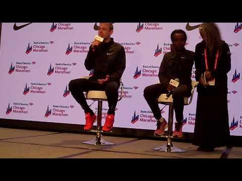 Galen Rupp 2017 Chicago Marathon victory press conference, part 1