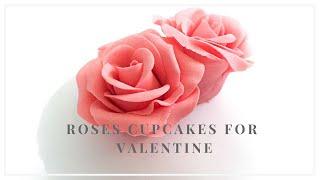 【簡易糖花】翻糖玫瑰花 Rose cupcakes (5分鐘教學) | Irma 的翻糖蛋糕