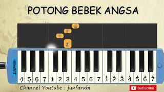 not pianika potong bebek angsa - lagu daerah nusantara indonesia - belajar pianika not angka