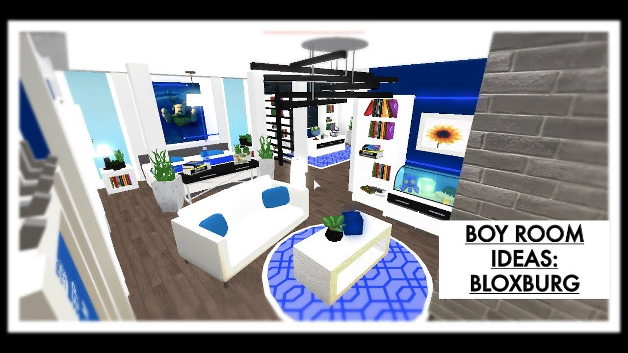 Boy Bedroom Ideas Bloxburg Youtube