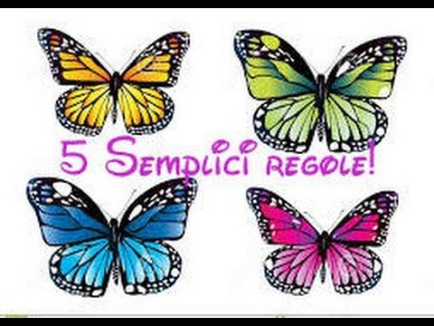 Impariamo a disegnare le farfalle 5 semplici regole for Immagini di disegni facili