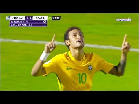 Neymar vs Uruguay 720p HD • Uruguay vs Brazil 2017 World Cup Qualifier