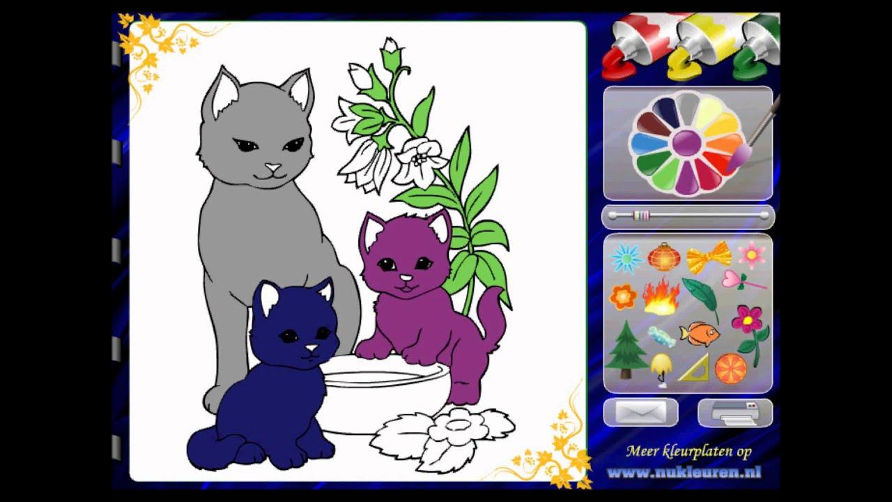 Kedi Boyama Resmi Kikirti Oyunları Kikirticom Youtube