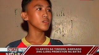 SONA: 13-anyos na tindero, kabisado ang ilang probisyon ng batas