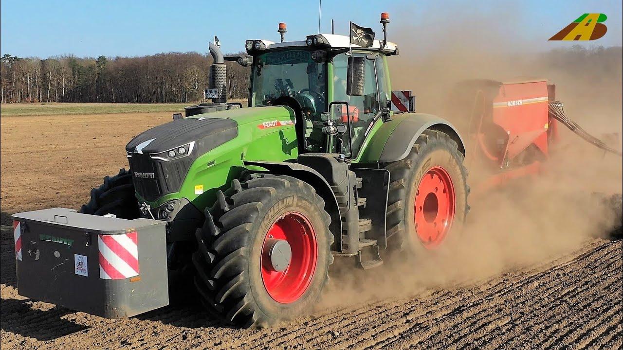 Aussaat 2021 -  Bodenbearbeitung und Getreide säen - Landwirtschaft in Brandenburg - Fendt & Claas