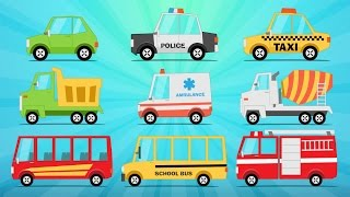Learn Street Vehicles for Kids in Arabic - تعليم وسائل النقل باللغة العربية للاطفال