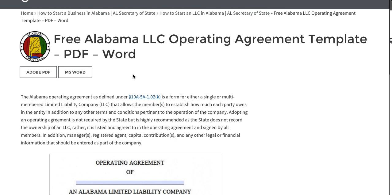 Free alabama llc operating agreement template pdf word youtube free alabama llc operating agreement template pdf word flashek Gallery