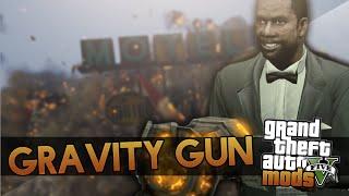 GTA 5 Gravity Gun Mod Showcase - Pick People Up and Throw Them! (GTA 5 Mods)