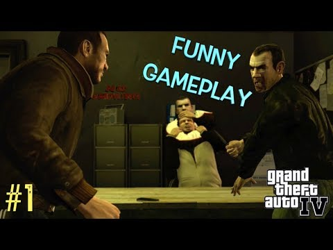 "FRESH OFF THE BOAT! ( FUNNY ""GTA 4"" STORYMODE GAMEPLAY #1)"