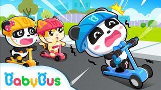 키키묘묘 킥보드 타기 조심하게 타요~! 베이비버스 인기동화 동요모음 BabyBus