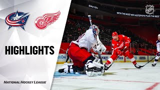 NHL Highlights | Blue Jackets @ Red Wings 01/19/21