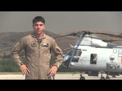 California Wild Fires 2014 - Marine Helicopter Crew Chief Interview