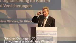 Oettinger fordert einheitliche Regeln für die Digitalwirtschaft