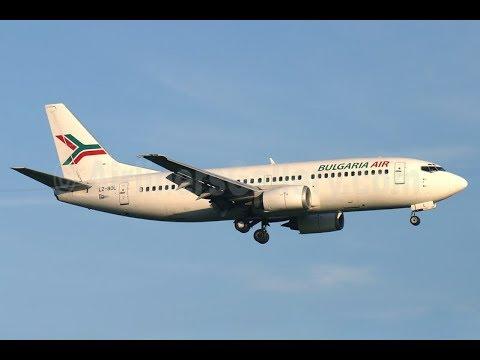 (Co-)Pilot in Command| Bulgaria Air Varna to Skopje in a B737-3 FULL FLIGHT P1