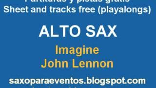 Imagine on Alto sax