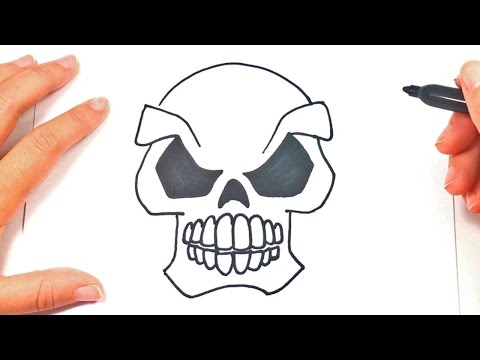 How To Draw A Skull | Skull Easy Draw Tutorial