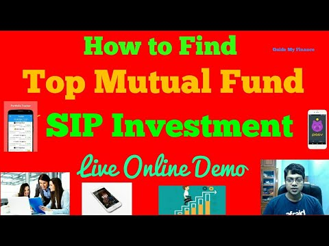 How to Find Top Mutual Fund for SIP investment  : Live Online Demo