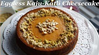 Eggless kaju Katli cheesecake, Kąju Katli recipe, How to make eggless cheesecake, Diwali Dessert