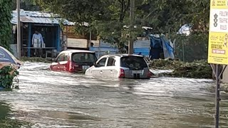Floods in Bangalore | Hulimavu lake bund Breakdown