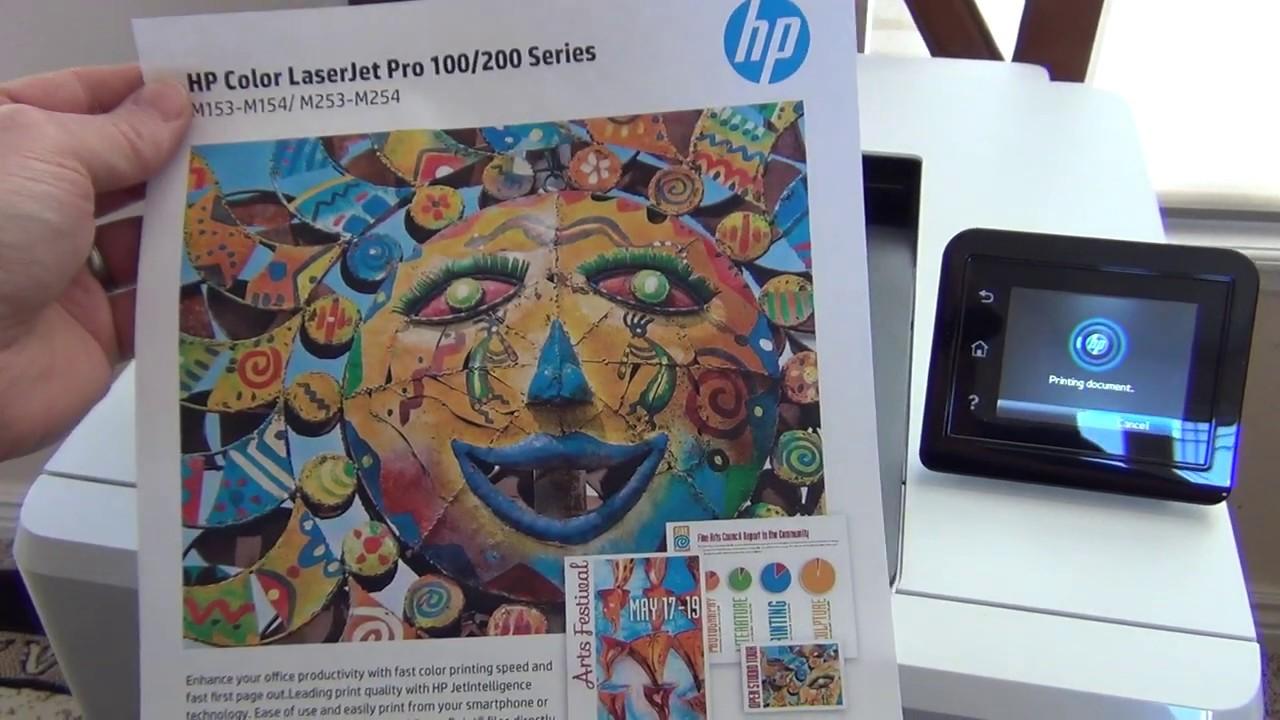 HP LaserJet M254dw - YouTube