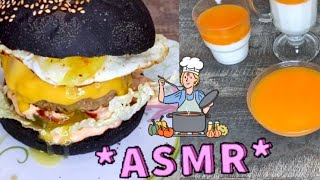 ASMR Cooking and eating - Cheesburger and Panna Cotta / АСМР Итинг Чизбурегр и Панна Котта