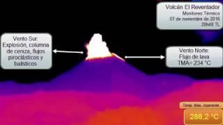 Explosión del volcán El Reventador (07 de noviembre de 2016, 20h48 TL)