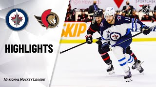 NHL Highlights | Jets @ Senators 01/19/21