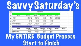 My ENTIRE  Budget Process I Start to Finish ISavvy Saturday's Ep. 21