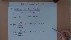 Kurvendiskussion Teil 9 - Verhalten der Funktion an den Rändern