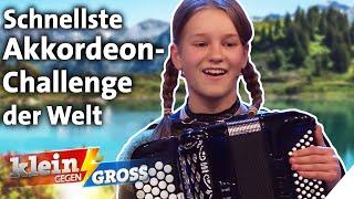 Kann Ronja schneller Akkordeon spielen als der slowenische Virtuose Tomaz Hribar? | Klein gegen Groß