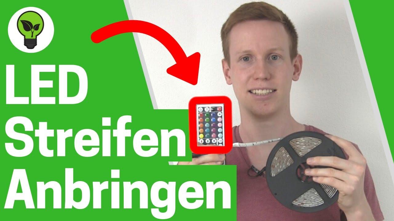 LED Streifen Anbringen ✅TOP ANLEITUNG: Lichterkette, Stripes Band & Leiste Schneiden und Verbinden!