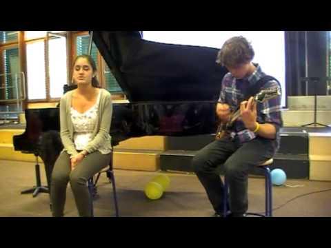Adriana (Nita) Blanc Valerie with Mac Nelson on guitar