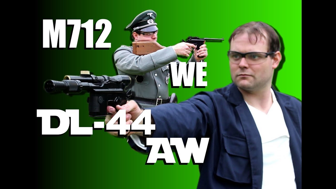 M712 (WE) + Han Solo's DL44 (AW) video review