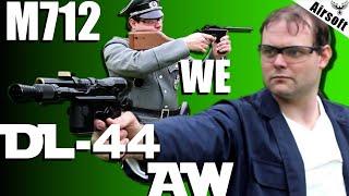 M712 (WE) + DL44 de Han Solo (AW) présentation d'airsoft