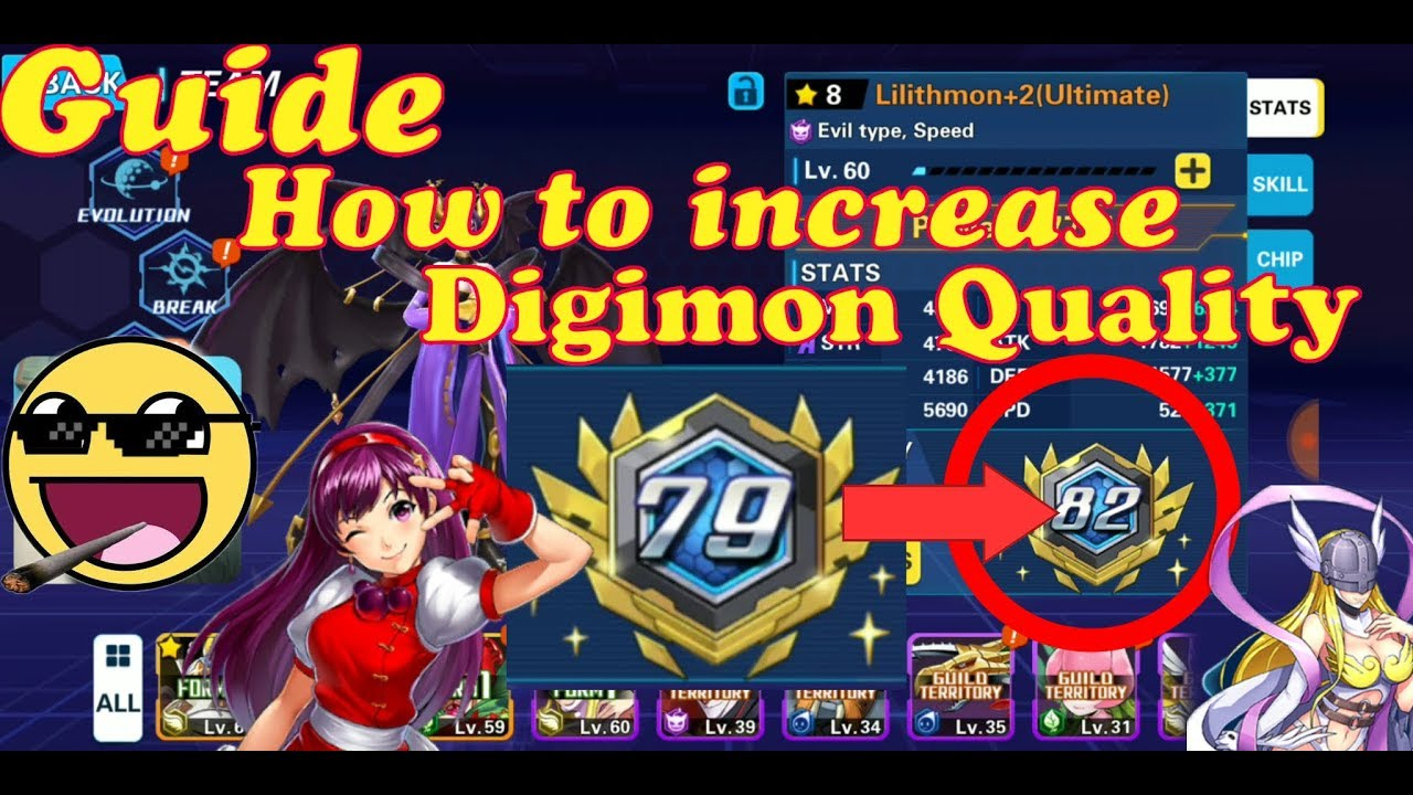 Digital World Evolution Guide how to increase Quality Digimon ??! Use  purple Book