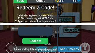 Roblox Flood escape 2-[]December Codes[]