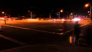 Castaic fireworks show traffic timelapse intersection 2 V12664