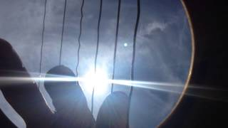 Camera placed inside guitar captures sound waves