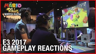 Mario + Rabbids Kingdom Battle: Gameplay Reactions @ E3 2017 | Ubisoft [US]