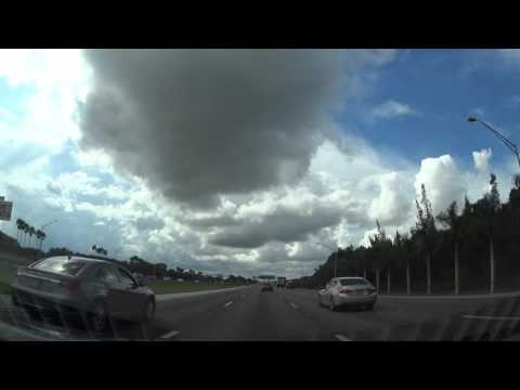 CKW E33 Idiot cuts close on highway and merges 3 lanes over - Sunrise, Florida