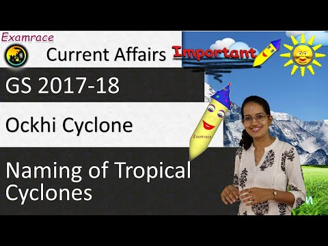 Naming of Tropical Cyclones & Ockhi Cyclone (Current Affairs / GS 2017-18) - WW.49