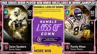 "FREE SERIES REDUX PLAYER! NEW HOUSE RULES ""LOSS OF DOWN"" EVENT GAMEPLAY! 