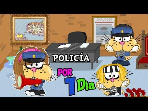 TRABAJANDO COMO POLICÍA - Mundo Gaturro