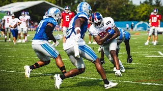 Sights and Sounds: Giants vs. Lions practices